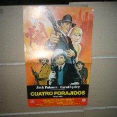 Cine: CUATRO FORAJIDOS JACK PALANCE MINI POSTER ORIGINAL B2. Lote 54081063