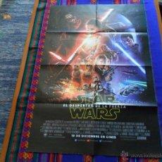 Cine: CARTEL PÓSTER EPISODIO VII EL DESPERTAR DE LA FUERZA. 78X52 CMS. STAR WARS. . Lote 54248800
