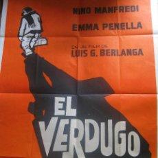 Cine: EL VERDUGO 1963 CARTEL ARGENTINA BERLANGA NINO MANFREDI EMMA PENELLA JOSÉ ISBERT. Lote 256167570
