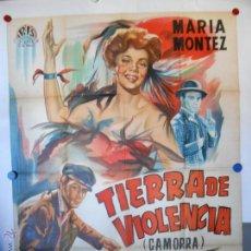Cine: CARTEL LITOGRAFICO - TIERRA DE VIOLENCIA - 140 X 100 CMS. Lote 54330829