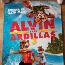 Cine: ALVIN Y LAS ARDILLAS 3 - APROX 70X100 CARTEL ORIGINAL CINE (L17). Lote 54338367