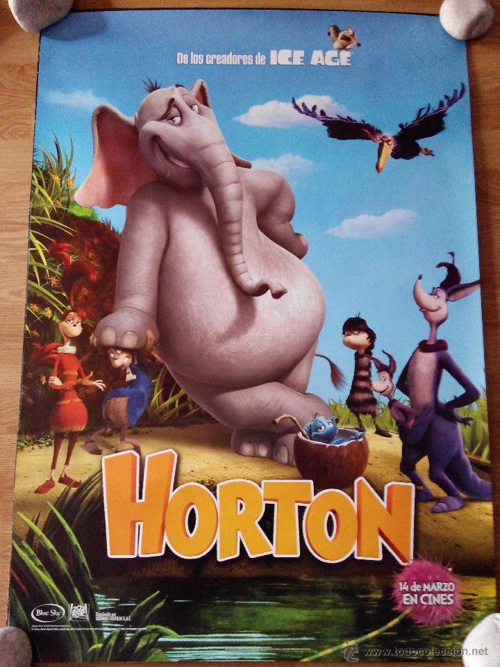 HORTON - APROX 70X100 CARTEL ORIGINAL CINE (L17) (Cine - Posters y Carteles - Infantil)