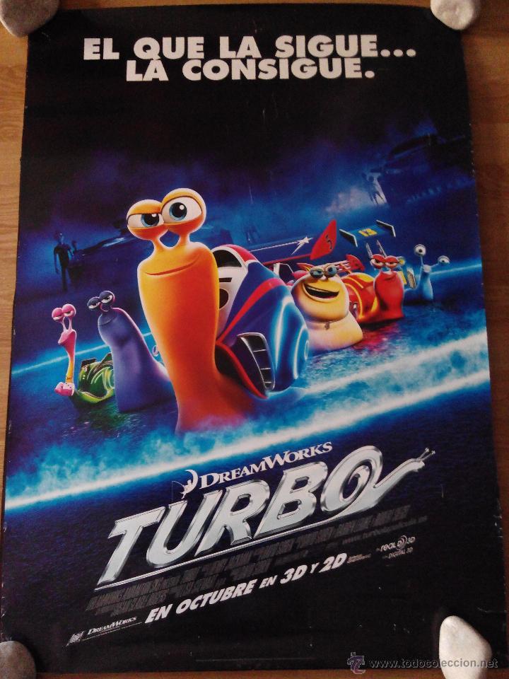 TURBO - APROX 70X100 CARTEL ORIGINAL CINE (L17) (Cine - Posters y Carteles - Infantil)