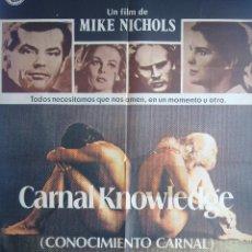 Cine: CONOCIMIENTO CARNAL. JACK NICHOLSON, CANDICE GERGEN, ARTHUR GARAFUNKEL, ANN MARGRET, POSTER CARTEL. Lote 54353891