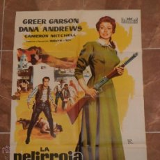 Cine: LA PELIRROJA INDOMITA - GREER GARSON - DANA ANDREWS - POSTER ORIGINAL 70X100 DEL ESTRENO. Lote 54376448