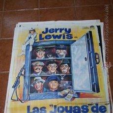 Cine: CARTEL CINE LAS JOYAS DE LA FAMILIA JERRY LEWIS. Lote 54447151
