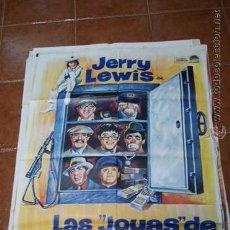 Cine: CARTEL CINE LAS JOYAS DE LA FAMILIA JERRY LEWIS. Lote 54447179