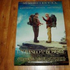 Cine: UN PASEO POR EL BOSQUE. POSTER O CARTEL ORIGINAL DE LA PELICULA. MUY BUEN ESTADO.. Lote 245107920