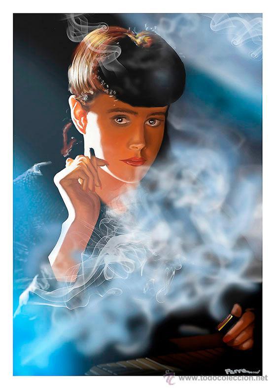 BLADE RUNNER. REPLICANTE. RIDLEY SCOTT. LÁMINA CARTEL 45 X 32 (Cine - Posters y Carteles - Ciencia Ficción)