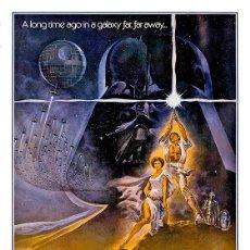 Cinema: STAR WARS IV. A NEW HOPE, UNA NUEVA ESPERANZA. LÁMINA CARTEL 45 X 32 CMS.. Lote 95267346