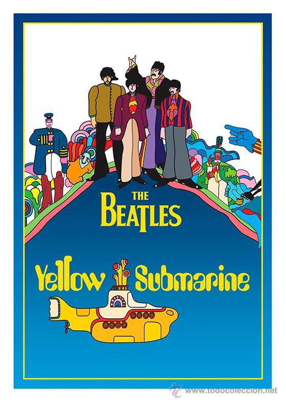 Lámina Poster Película Yellow Submarine The Be Kaufen Poster Und