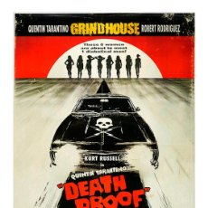Cinema: DEATH PROOF. QUENTIN TARANTINO. LÁMINA CARTEL 45 X 32 CMS.. Lote 109239323