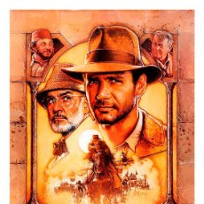Cinema: INDIANA JONES Y LA ÚLTIMA CRUZADA. THE LAST CRUSADE. LÁMINA CARTEL 45 X 32 CMS. Lote 54618024
