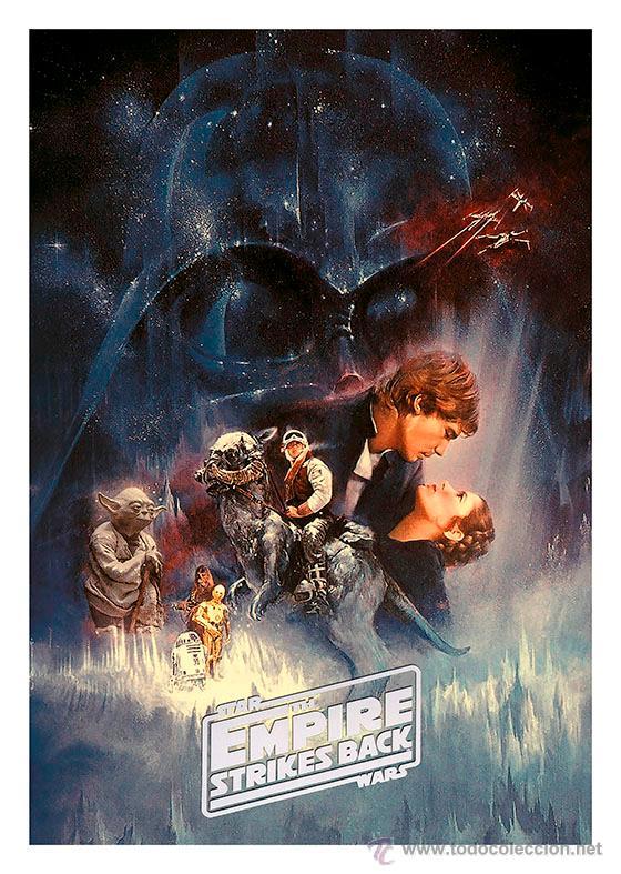 STAR WARS. EL IMPERIO CONTRAATACA. EPISODIO V. LÁMINA CARTEL 45 X 32CMS (Cine - Posters y Carteles - Ciencia Ficción)