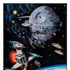 Cine: STAR WARS ESTRELLA DE LA MUERTE. DEATH STAR. LÁMINA CARTEL 45 X 32 CMS.. Lote 147292766
