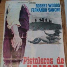 Cine: PISTOLEROS DE ARIZONA. ALFONSO BALCÁZAR, 1965. ROBERT WOODS, FERNANDO SANCHO. Lote 54643273