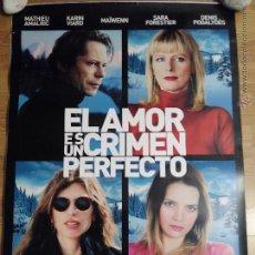 Cine: EL AMOR ES UN CRIMEN PERFECTO - APROX 70X100 CARTEL ORIGINAL CINE (L20). Lote 54864909