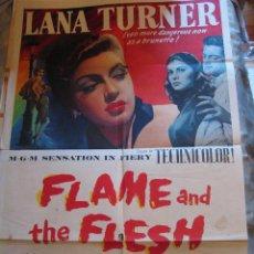 Cine: FLAME AND THE FLESH CARTEL ORIGINAL ESTADOS UNIDOS 1954 LANA TURNER PIER ANGELI. Lote 54920733