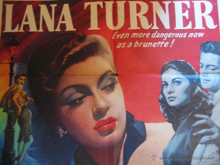 Cine: Flame and the Flesh cartel original Estados Unidos 1954 Lana Turner Pier Angeli - Foto 2 - 54920733