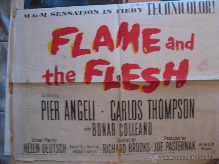 Cine: Flame and the Flesh cartel original Estados Unidos 1954 Lana Turner Pier Angeli - Foto 3 - 54920733