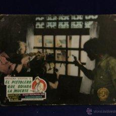 Cine: CARTELERA CINE LOBBY CARD PISTOLERO ODIABA MUERTE STEFFEN WYLER BARRETT WOOD JAKSON PADGET 29X39CM. Lote 55004667