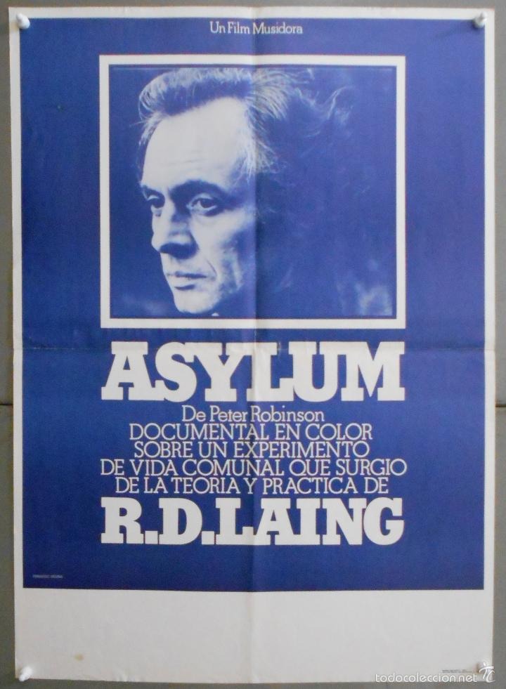 WS23 ASYLUM R.D. LAING PETER ROBINSON DOCUMENTAL POSTER ORIGINAL 50X70 ESTRENO (Cine - Posters y Carteles - Documentales)