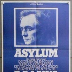 Cine: WS23 ASYLUM R.D. LAING PETER ROBINSON DOCUMENTAL POSTER ORIGINAL 50X70 ESTRENO. Lote 55122967
