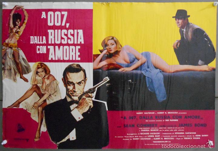 ZL23D DESDE RUSIA CON AMOR JAMES BOND 007 SEAN CONNERY SET DE 6 POSTERS ORIGINAL ITALIANO 47X68 (Cine - Posters y Carteles - Acción)
