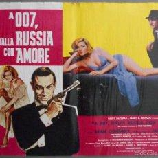 Cine: ZL23D DESDE RUSIA CON AMOR JAMES BOND 007 SEAN CONNERY SET DE 6 POSTERS ORIGINAL ITALIANO 47X68. Lote 55123894