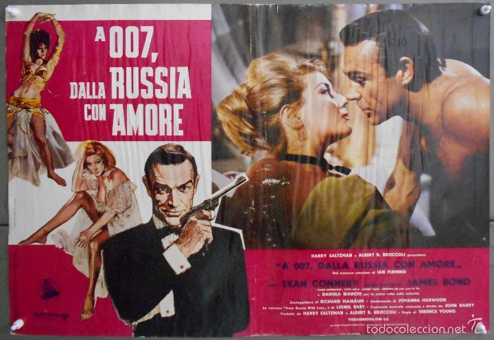Cine: ZL23D DESDE RUSIA CON AMOR JAMES BOND 007 SEAN CONNERY SET DE 6 POSTERS ORIGINAL ITALIANO 47X68 - Foto 3 - 55123894