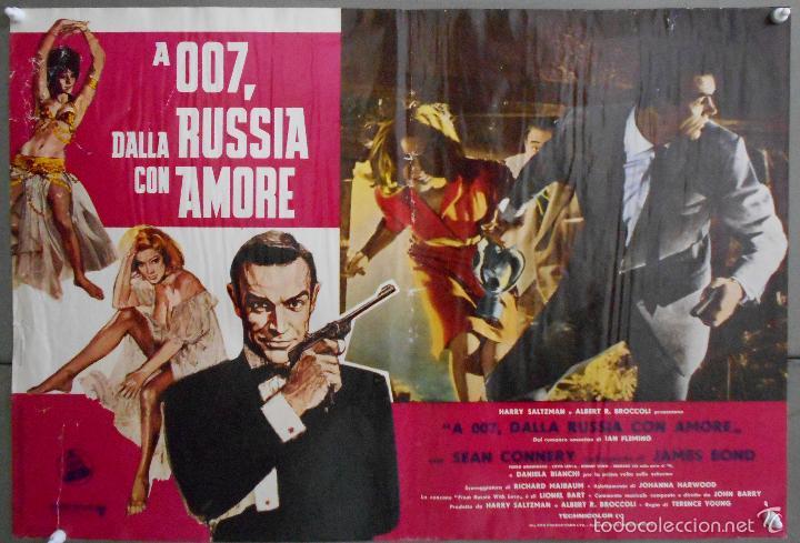 Cine: ZL23D DESDE RUSIA CON AMOR JAMES BOND 007 SEAN CONNERY SET DE 6 POSTERS ORIGINAL ITALIANO 47X68 - Foto 4 - 55123894