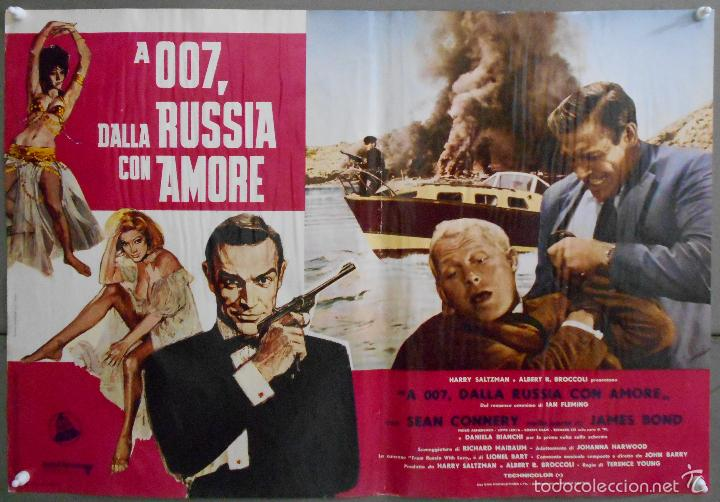 Cine: ZL23D DESDE RUSIA CON AMOR JAMES BOND 007 SEAN CONNERY SET DE 6 POSTERS ORIGINAL ITALIANO 47X68 - Foto 5 - 55123894