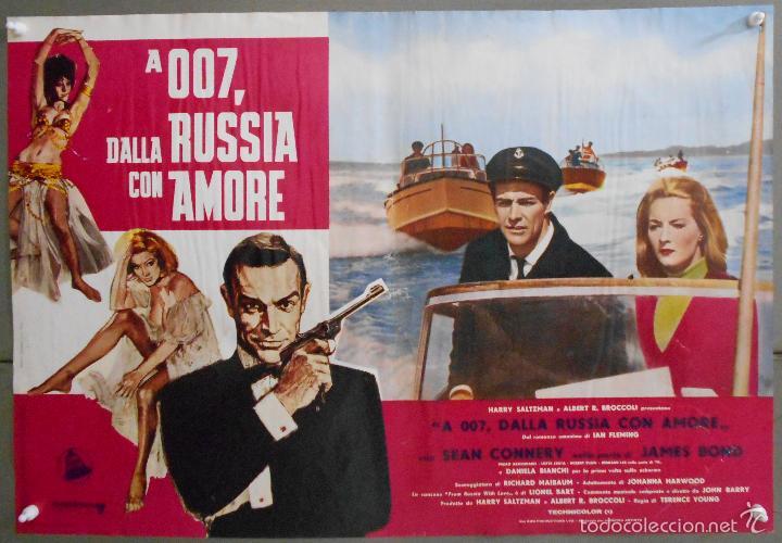 Cine: ZL23D DESDE RUSIA CON AMOR JAMES BOND 007 SEAN CONNERY SET DE 6 POSTERS ORIGINAL ITALIANO 47X68 - Foto 6 - 55123894