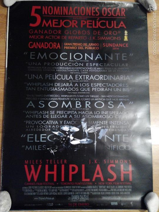 WHIPLASH - APROX 70X100 CARTEL ORIGINAL CINE (L22) (Cine - Posters y Carteles - Musicales)