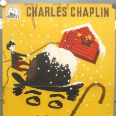 Cine: WS00D LA QUIMERA DEL ORO CHARLES CHAPLIN POSTER ORIGINAL ESPAÑOL 70X100. Lote 55240700