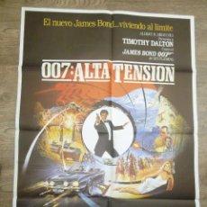 Cine: CARTEL 007 ALTA TENSIÓN, (1987) JAMES BOND, TIMOTHY DALTON , MARYAM D,ABO. Lote 55704294
