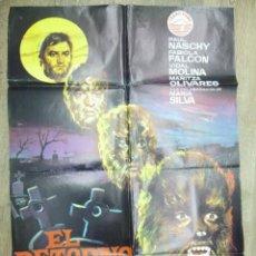 Cine: CARTEL EL RETORNO DE WALPURGIS 1973 PAUL NASCHY , FABIOLA FALCON, MARIA SILVA. Lote 55785383