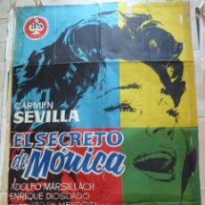 Cine: EL SECRETO DE MONICA. CARTEL DE CINE. MOVIE POSTER. 100X70 CM. Lote 55826642