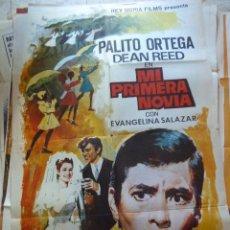 Cine: MI PRIMERA NOVIA. PALITO ORTEGA. RARO CARTEL. CARTEL DE CINE. MOVIE POSTER. 100X70 CM. Lote 55826786