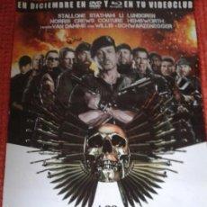 Cine: LOS MERCENARIOS 2 ** SYLVESTER STALLONE *** POSTER PLEGADO 50 X 70 ** SPAIN. Lote 55839801