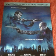 Cine: LOOPER ** DE RIAN JOHNSON CON JOSEPH GORDON-LEVITT, BRUCE WILLIS ** POSTER PLEGADO 50 X 70 ** SPAIN. Lote 55841979