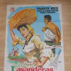 Cine: LAVANDERAS DE PORTUGAL PAQUITA RICO JEAN CLAUDE PASCAL ORIGINAL 70 X 100 CM - CARTEL DE CINE. TDKPR1. Lote 37751882
