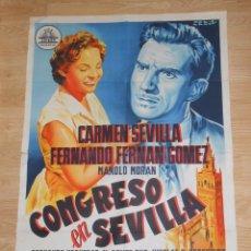 Cine: CONGRESO EN SEVILLA - POSTER ORIGINAL 70 X 100 CM - CARTEL CINE. TDKPR1. Lote 37751913