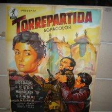Cine: TORREPARTIDA PEDRO LAZAGA GUERRA CIVIL SOLIGO ORIGINAL 70X100 DE ESTRENO LITOGRAFIA YY. Lote 55873282