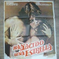 Cine: CARTEL PELICULA CINE HA NACIDO UNA ESTRELLA BARBARA STREISAND KRIS KRISTOFFERSON. Lote 56003757