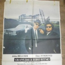 Cine: CARTEL GRANUJAS A TODO RITMO. BLUES BROTHERS , DAN AYKROYD Y JOHN BELUSHI. Lote 56004103