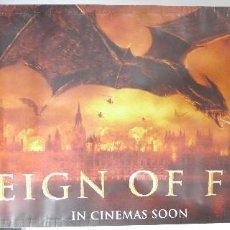 Cine: LONA GIGANTE PÓSTER CINE. EL IMPERIO DEL FUEGO, REIGN OF FIRE. PELÍCULA 2002.. Lote 56011979