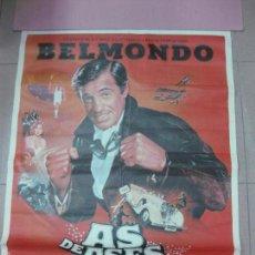 Cine: CARTEL AS DE ASES JEAN PAUL BELMONDO. 1983. 100 X 70 CM.. Lote 56039338