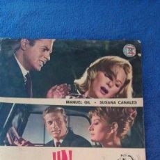 Cine: UN PUENTE SOBRE EL TIEMPO / 22 X 31 CMS MANUEL GIL,SUSANA CANALES /REVERSO FICHA TÉCNICA Y ARTÍSTICA. Lote 56197610