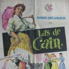 Cine: CARTEL LAS DE CAÍN. Lote 56380387